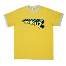RMC Jeans Yellow Crewneck Regular Fit Short Sleeve T Shirt with SUPERMC Print REDM6347